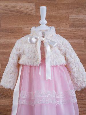 40919 chaqueta pelo rosas